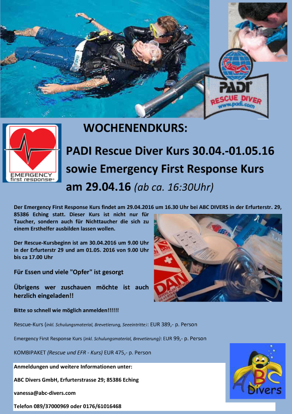 Rescue Kurs WOCHENENDKURS 2016