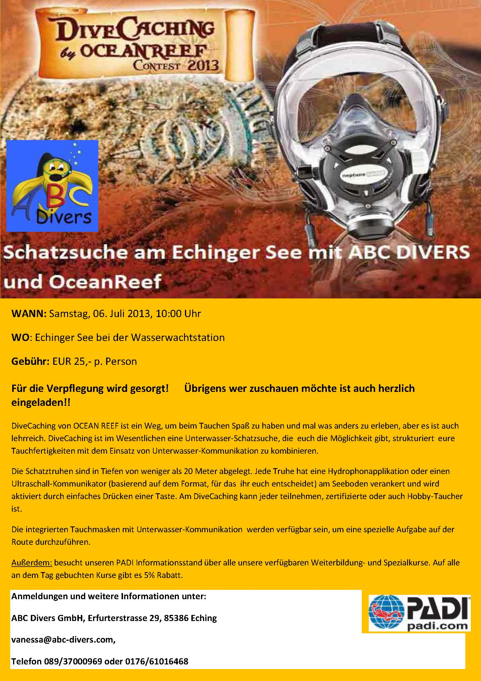 Dive Caching Flyer